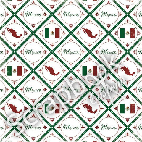"Mexico 12""X12"" DISCOVER Travel Scrapbook Papers Scrapbooksrus"