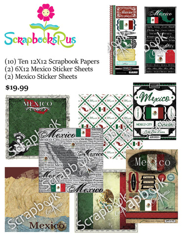 MEXICO FULL KIT #1 Sightseeing Discover Travel Scrapbook Paper Stickers Scrapbooksrus
