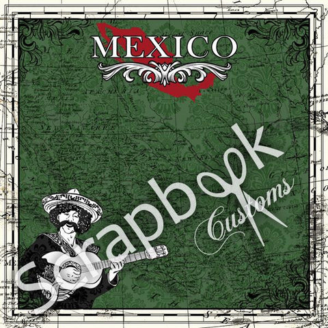 "Mexico 12""X12"" Mexico Sightseeing Travel Scrapbook Paper - Scrapbook Kyandyland"