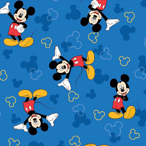 "MICKEY MOUSE Blue 12""x12"" Scrapbook Paper"