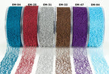 "May Arts 1.5"" MESH WEB Ribbon 1 yard yd - Scrapbook Kyandyland"