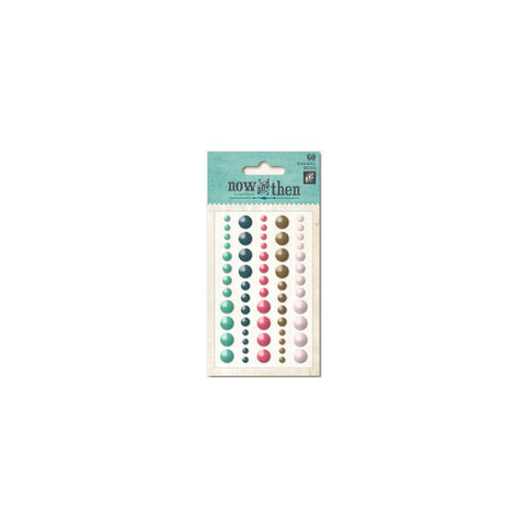 My Mind's Eye Now & Then Enamel Dots Mildred With You 60 pc - Scrapbook Kyandyland
