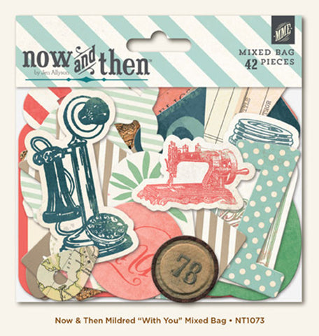 My Mind's Eye Now & Then Mixed Bag Diecuts Mildred 32 pc - Scrapbook Kyandyland