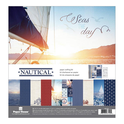 Paper House NAUTICAL Scrapbook Crafting Kit