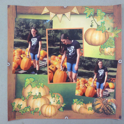 Custom-made (20) Twenty Page Scrapbook Album Pumpkin Fall Scrapbooksrus