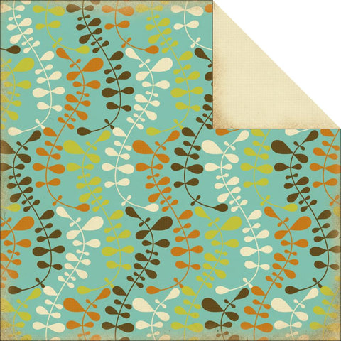"Kaisercraft ROCK POOL SEAWEED 12""X12"" Beach Cardstock Paper Sheet - Scrapbooksrus"