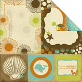 Kaisercraft ROCK POOL WAVES 12X12 Scrapbook Beach Paper 1 Sheet - Scrapbook Kyandyland