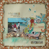 Kaisercraft ROCK POOL URCHIN 12X12 Scrapbook Beach Paper 1 Sheet - Scrapbook Kyandyland