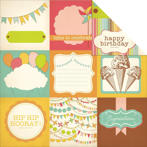 "Kaisercraft SAVE THE DATE Birthday 12""X12"" Sheet - Scrapbook Kyandyland"