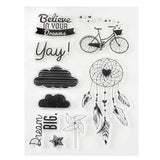 Believe in Your Dreams Dreamcatcher Craft Clear Acrylic Stamp Set Teapot Scrapbooksrus