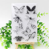 BUTTERFLIES & BUGS Clear Acrylic Stamp Set 9pc