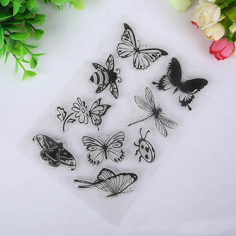 Butterflies Butterfly Craft Clear Acrylic Stamp Set Scrapbooksrus