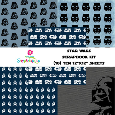"STAR WARS 12""X12"" Scrapbook Kit 10 Sheets Scrapbooksrus"