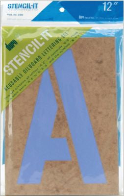 "Duro STENCIL IT 12"" Reusable Oilboard Lettering Set - Scrapbook Kyandyland"