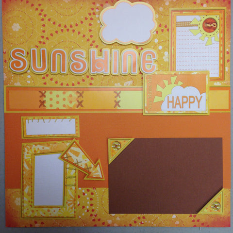 Page Kit (2) 12x12 Scrapbook HAPPY SUNSHINE Scrapbooksrus