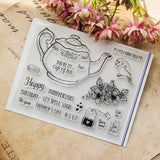 Time for Tea Craft Clear Acrylic Stamp Set Teapot Scrapbooksrus