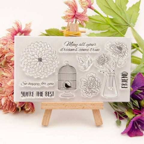 YOU'RE THE BEST Clear Acrylic Stamp Set 8pc
