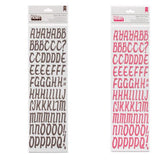American Crafts Thickers CUPBOARD Alphabet Letter Stickers - Scrapbook Kyandyland