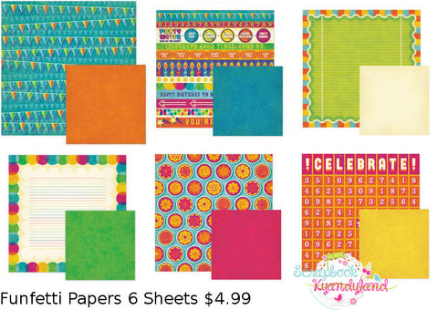 We R Memory Keepers FUNFETTI PAPER KIT Scrapbook Sheets #1 - Scrapbooksrus