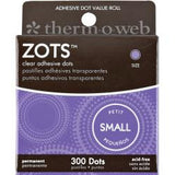 Thermo Web ZOTS Clear Adhesive Dots 300pc - Scrapbook Kyandyland