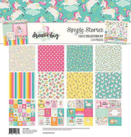 "Simple Stories DREAM BIG Collection Kit 12""X12""114 pc. Scrapbooksrus"