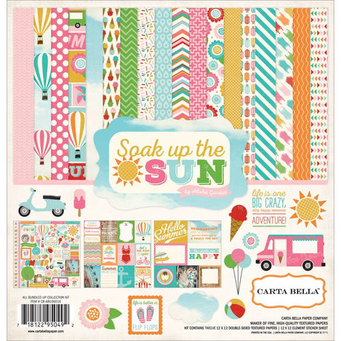 "Echo Park SOAK UP THE SUN Carta Bella Collection Kit 12""X12"" - Scrapbook Kyandyland"