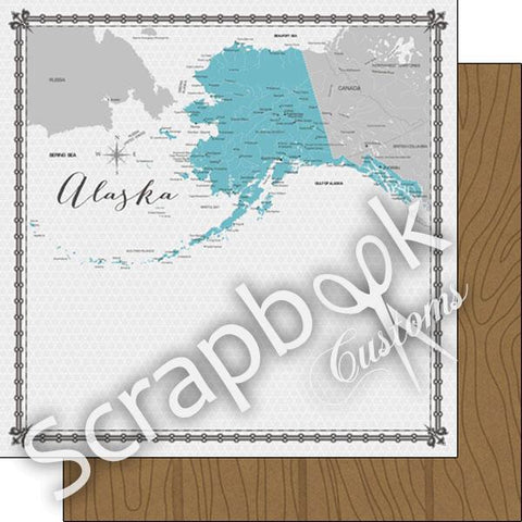 ALASKA MEMORIES MAP 12X12 Paper Scrapbook Customs Scrapbooksrus