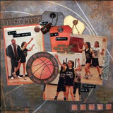 "Moxxie PICK UP GAME Basketball 6""X12"" Stickers 26pc - Scrapbook Kyandyland"