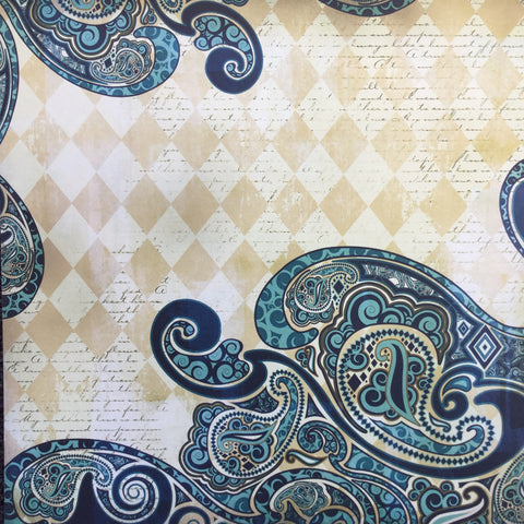 "StoryTellers Paper HARLEQUIN PAISLEY 12""X12"" Cardstock Paper 2pc"