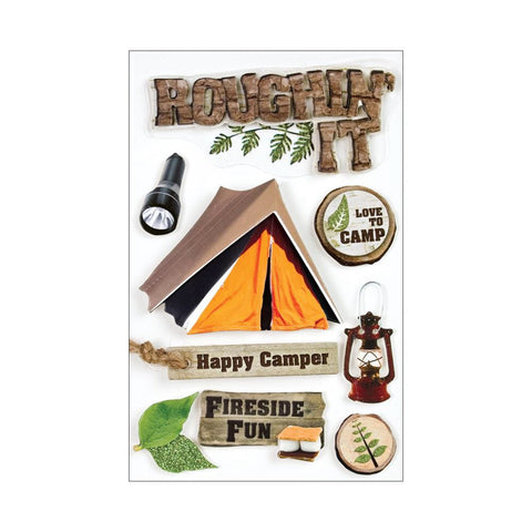 Paper House ROUGHIN IT 3D Stickers - Scrapbook Kyandyland
