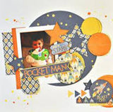 "Moxxie REACH FOR THE STARS 12""X12"" Scrapbook Paper - Scrapbook Kyandyland"