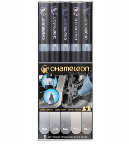 Chameleon Color Tones. GRAY TONES Alcohol Markers Pens 5pc Scrapbooksrus