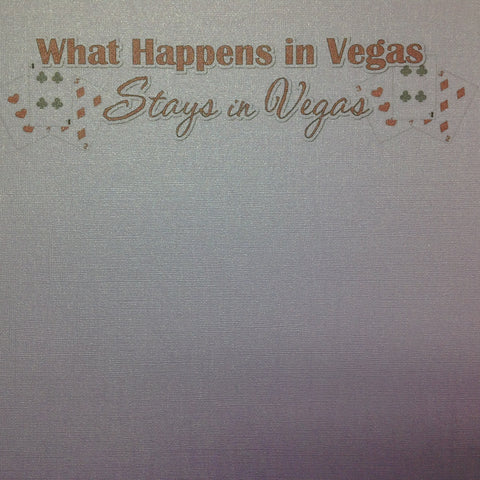 "What Happens In Vegas Amulet Bling 12""X12"" Scrapbook Paper"