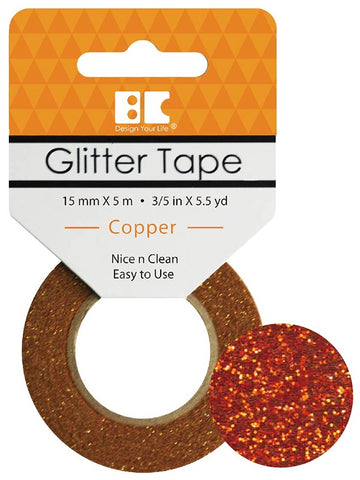 Best Creation GLITTER TAPE COPPER Permanent Washi Tape
