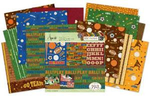 "K&Company SPORTS 12""X12"" Scrapbook Kit 193pc - Scrapbook Kyandyland"