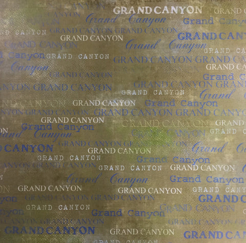 "Green Lush GRAND CANYON BLUE 12""X12"" Travel Paper Scrapbooksrus"