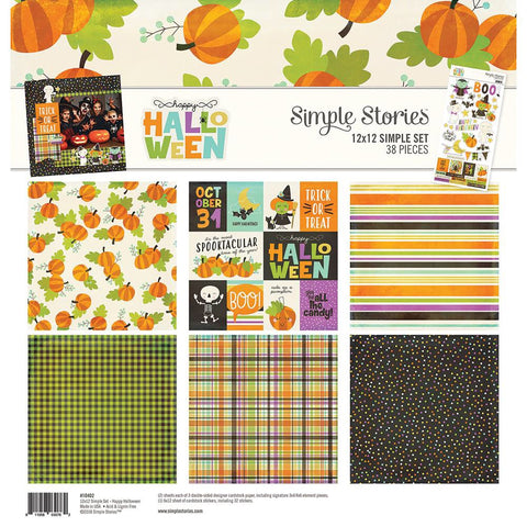 "Simple Stories HAPPY HALLOWEEN 12""X12"" Scrapbook Kit 38pc"