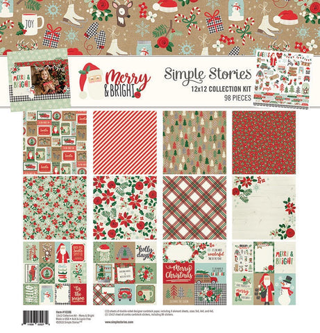 "Simple Stories MERRY & BRIGHT 12""X12"" Collection Kit 13pc Scrapbboksrus"