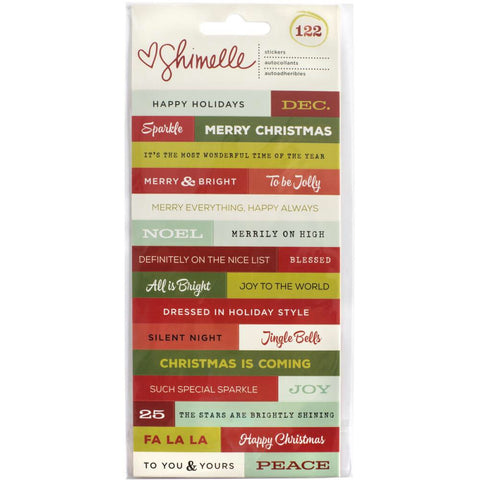 American Crafts SHIMELLE CHRISTMAS MAGIC Stickers Phrase - Scrapbook Kyandyland