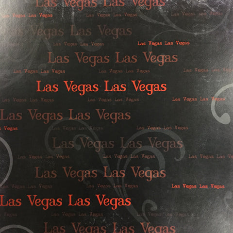 "Old Antique Words RED LAS VEGAS 12""X12"" Custom Travel Paper Sheet"