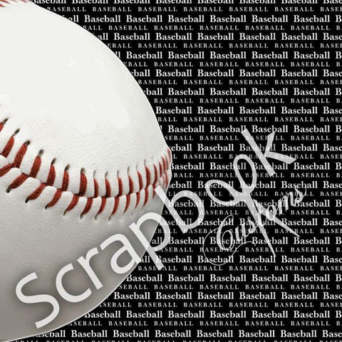 BASEBALL Scrapbook Customs GO BIG RIGHT 12X12 Sports Sheet - Scrapbook Kyandyland