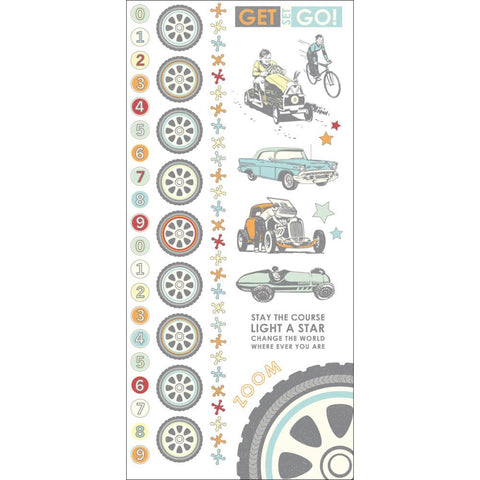 "Kaisercraft ON THE MOVE Colour Rub-Ons 8.25""X4"" 1pc - Scrapbooksrus"
