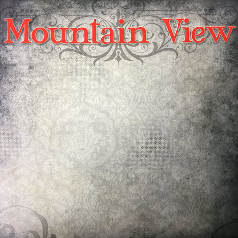 "Old Antique  MOUNTAIN VIEW Red 12""X12"" Custom Travel Paper LV Scrapbooksrus"