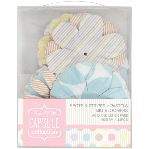 Docrafts Papermania Spots/Stripes Pastels Big Bloomers Flowers - Scrapbook Kyandyland