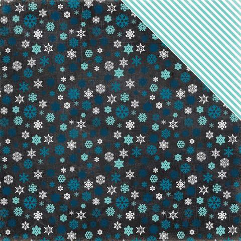 "Echo Park Hello Winter FROSTY NIGHT 12""x12"" Scrapbook Paper Scrapbooksrus"