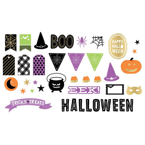 American Crafts Halloween DIECUT Bits Shapes 40 pc - Scrapbook Kyandyland