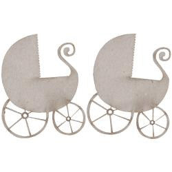 Fabscraps PRAM Die-Cut Grey Chipboard Word - Scrapbook Kyandyland
