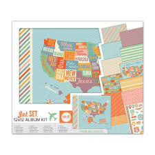 WeRM JET SET Travel 12X12 Album Kit 450pc - Scrapbook Kyandyland