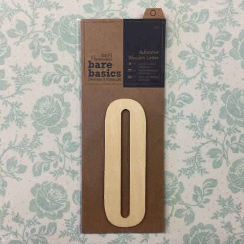 Papermania Bare Basics Wooden Adhesive LETTER O Wood