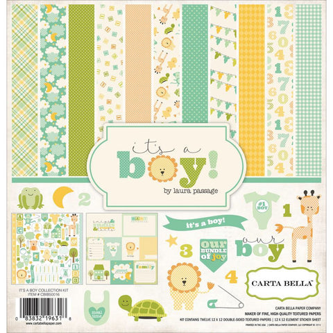 Carta Bella IT'S A BOY Scrapbook Kit